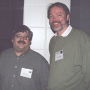 Photo courtesy of FAU Special Collections, Robert A. Collins Collection Mike Levy and Brian Attebery