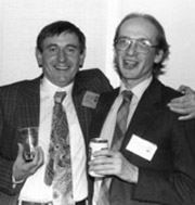 Peter Malekin and Nick Ruddick; photo courtesy of FAU Special Collections, Robert A. Collins Collection Mike Levy and Brian Attebery