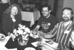 Jean Lorrah, P. Andrew Miller, and Scott Vander Ploeg; photo courtesy of FAU Special Collections, Robert A. Collins Collection